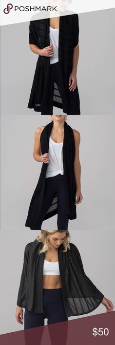 lululemon Summer Solstice Wrap NWT never worn Transformable scarf: wear it as a wrap, a shawl, or a scarf Viscose Yarn blend- lightweight warmth with a soft feel lululemon athletica Accessories Scarves & Wraps