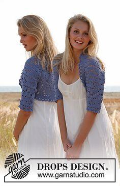 Ravelry: 147-4 Caroline - Bolero with lace pattern in Baby Alpaca Silk pattern by DROPS design