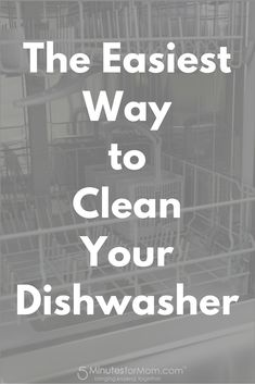 The Easiest way to clean your dishwasher using Finish Dishwasher Detergent Cleaner Dual Action Formula.