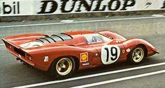Chris Amon/Peter Schetty, Ferrari 312 P Berlinetta, Le Mans 1969