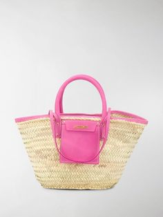 Jacquemus Le Panier Soleil Straw & Leather Bag In Neutrals Jacquemus Bag, Scotch Eggs, Pink Leather, World Of Fashion, Luxury Branding, Shoulder Straps, Shoulder Bags, Straw Bag, Latest Fashion