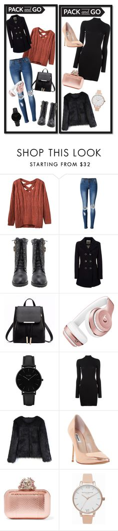 """""""winter"""" by nichetino ❤ liked on Polyvore featuring WithChic, Geox, Beats by Dr. Dre, CLUSE, adidas Originals, Chicwish, Dune, Jimmy Choo and Olivia Burton"""