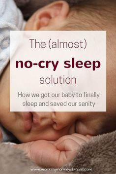 Are you struggling to get your baby to sleep? Try this method that involves little crying for your baby.