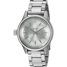 Nixon Women's 'Facet, All' Quartz Stainless Steel Automatic Watch,... ($200) ❤ liked on Polyvore featuring jewelry, watches, quartz wrist watch, stainless steel jewellery, stainless steel watches, nixon watches and silvertone jewelry