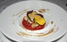 Lemon Curd with Strawberries Marinated with Susur's ice Syrup Italian Meringue ⁄ Paper thin pastry Italian Meringue, Lemon Curd, Syrup, Strawberries, Ice, Cooking, Paper, Ethnic Recipes, Food
