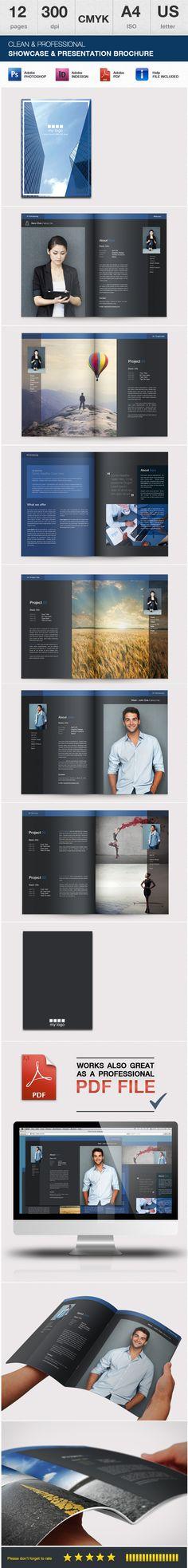 A4 Portfolio & Showcase Brochure by Danijel Mokic, via Behance