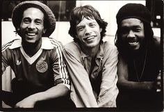 O encontro de Bob Marley, Mick Jagger e Peter Tosh