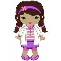Looks Like Doc McStuffins Applique Girl Doctor Machine Embroidery Design Digitized Pattern