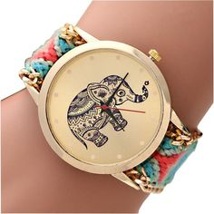 Watches Lovely New Watch Relojes Mujer 2017 Women Watch Monkey Knitted Weaved Rope Band Bracelet Quartz Dial Wrist Watch Vintage Female Clock
