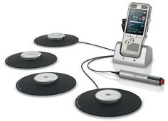 Enregistreur de réunion 8900: Saisissez tout le contenu de vos réunions avec l'enregistrement à 360°. Capture de son à 360 degrés pour un enregistrement optimal. Une qualité d'enregistrement élevée en format DSS Pro, MP3 et PCM. Solution extensible pour une meilleure portée d'enregistrement jusqu'à 6 microphones au total. Pédale de commande en option. Réf. DPM8900. http://www.exertisbanquemagnetique.fr/info-marque/philips/771 #Philips #Enregistreur #Numerique