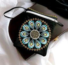 Wallet peacock zipper 2 - design - Machine embroidery digitization./INSTANT DOWNLOAD