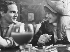 "Francois Truffaut and Julie Christie - during the filming of ""Fahrenheit 451"""