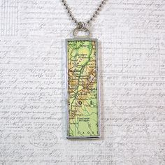 Colombia Map Pendant Necklace by XOHandworks