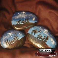 Photo from uncorkedinspiration...blue nativity!