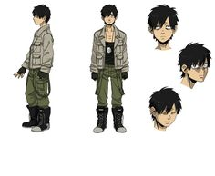Tags: Character Sheet, Official Art, PNG Conversion, Manglobe, GANGSTA., Nicholas Brown