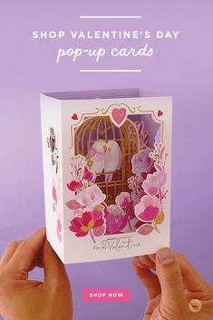 Wow them with pop-up cards from Hallmark for birthday, graduations, Valentine's Day and all occasions. Hallmark brings the art of papercraft to life. 3d Birthday Card, 12th Birthday, Valentine Box, Happy Valentines Day, Happy Hearts Day, Sweet Cupcakes, Pop Up Cards, New Baby Products, Paper Crafts