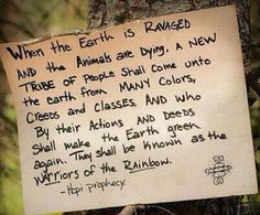 Be the change the earth needs, survival will follow.