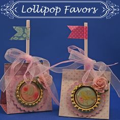 Paper Craft Project - Sophisticated Birthday Party Lollipop Favors -  #papercrafts