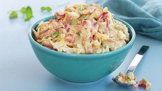 Kremet kyllingsalat Chicken Salad, Pasta Salad, Potato Salad, Nom Nom, Good Food, Dinner Recipes, Food And Drink, Cooking Recipes, Lunch