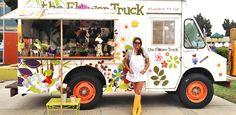 flower truck....love this idea