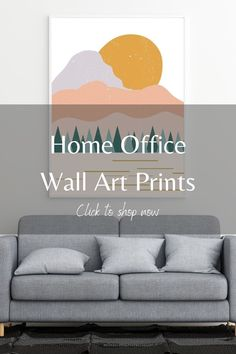 Looking for new home decor ideas for your office? Consider wall art prints from LB Ink Design! We have a lot of affordable art options, perfect for your home office space. We have modern, abstract, minimalist and boho options, so you're bound to find something that fits your aesthetic. These prints are perfect for above your desk or by a bookshelf, and they're an easy DIY. Click this pin to shop our etsy store today.  #affordableart #bohowallart #homedecor #abstractwalldecor…