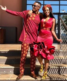 Couples African Outfits, African Attire, African Wear, African Fashion Dresses, African Dress, Black Love Couples, Traditional African Clothing, Matching Couple Outfits, Stylish Couple