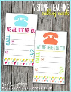 Visiting Teaching Message {free calling card}