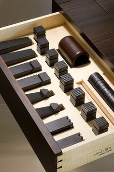 Chess set, macassar ebony