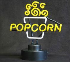 Popcorn Neon Sign | Star Gate Cinema