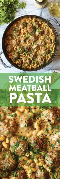 Swedish Meatball Pasta - Damn Delicious Quick Easy Meals, Pasta Recipes, Healthy Dinner Recipes, Cooking Recipes, Meat Recipes, Damn Delicious Recipes, Macaroni Recipes, Oven Recipes, Copycat Recipes
