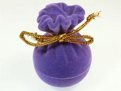 Adorable Purple Velvet Clutch Bag Jewellery Gift Box Ring Earring Pendant Charm