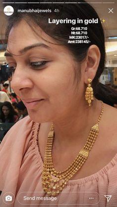 Gold Set Design, Gold Bangles Design, Gold Earrings Designs, Gold Jewellery Design, Necklace Designs, Gold Jewelry Simple, Mom Jewelry, Layer Necklace, Gold Necklace