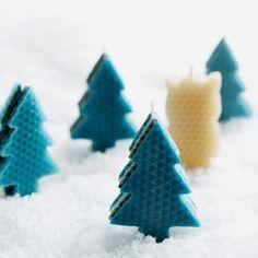 Make homemade holiday candles with honeycomb wax sheets.