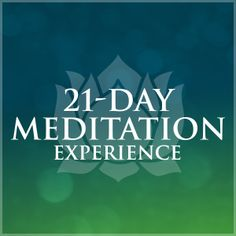 If you haven't joined an Oprah & Deepak meditation before, this is a perfect time. They make it very easy.