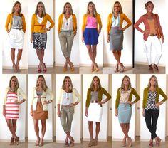 J's Everyday Fashion: Flashback Friday: Colorful Cardigans (I love her use of Cardigans!!!)