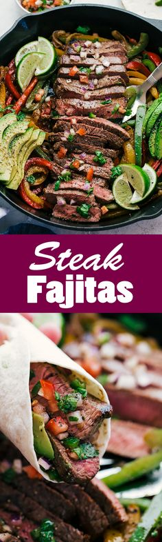 Are you looking for something sizzling, juicy, and delicious? Well then I have got the perfect Steak Fajitas that will satisfy all your hunger needs. #steakfajitas #beeffajitas #fajitas #theFoodCafe #recipes ##beeffajitasskillet #steakfajitasskillet #mexicanfood #avocado #healthyfajitas #healthyeating #toppins