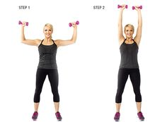 Shoulder Presses:This is a great exercise to give your girls their much needed fix. Grab a pair of dumbbells and stand with your feet shoulder width apart