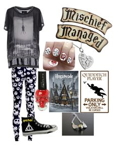 """""""Untitled #78"""" by maddieclawessa ❤ liked on Polyvore featuring ONLY, Nail Pop and Converse"""