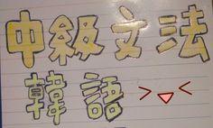 製作了一本屬於自己的韓語中級文法書