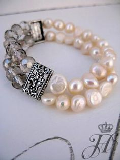 ❥ pearls and crystals