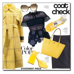 """""""Statement Coats"""" by court8434 ❤ liked on Polyvore featuring Fendi, J.Crew, self-portrait, MM6 Maison Margiela and statementcoats"""