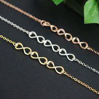 Triple infinity necklace from EarringsNation