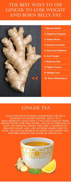 The Best Ways to Use Ginger to Lose Weight and Burn Belly Fat - Healthy Cures Magazine Health And Wellbeing, Health Benefits, Health Tips, Lose Weight, Weight Loss, Get Healthy, Healthy Recipes, Burn Belly Fat, Healthy Smoothies