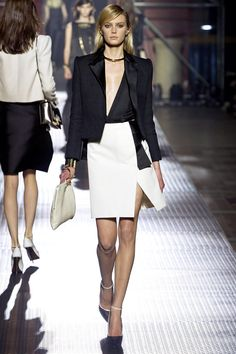 Lanvin S/S 2013 trends asymmetry and black & white.