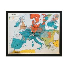 """Vintage French Map : """"Amelie"""""""