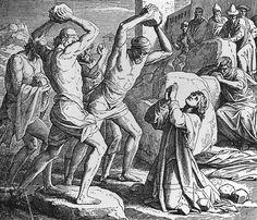 Bilder der Bibel - Steinigung Stephani - Julius Schnorr von Carolsfeld