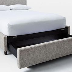Bed With Storage: With All The Qualities You Want Contemporary Upholstered Storage Bed