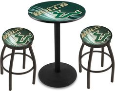 South Florida Bulls D2 Black Pub Table Set. Available in two table widths. Visit SportsFansPlus.com for Details.
