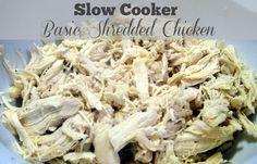Slow Cooker Basic Shredded Chicken Freezer Meal Starter