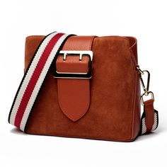 aef954a57f Brand Nubuck Leather Women Bags New Double strap design Genuine leather  Shoulder bag Buckets Fashion Small Messenger bags
